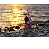 Sunset, Beach, Freedom