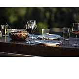 Table, Place Setting, Garden Party