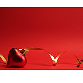 Red, Heart Shaped, Christmas Tree Decorations