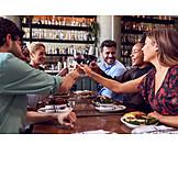 Restaurant, Friends, Toast