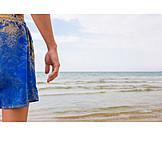 Sea, Bathing, Sand, Bathing Suit