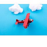 Airplane, Flying, Propeller Airplane