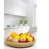 Fruit, Kiwi, Oranges, Apples, Fruit Basket