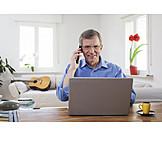 Mobile Communication, Laptop, Homeoffice