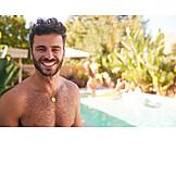 Man, Pool, Naked