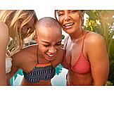 Laughing, Bikini, Friends