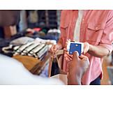 Shopping, Cashless, Card Reader, Fashion Store