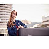 Young woman, Self confident, Urban, Portrait