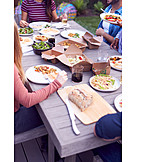 Eating, Friends, Take Away, Garden Party