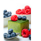 Dessert, Mousse, Matcha