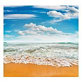 Beach, Sea, Wave