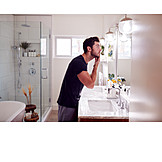 Man, Domestic Life, Home, Bathroom