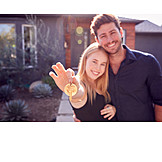 Couple, Happy, Real Estate, House Key, New Home