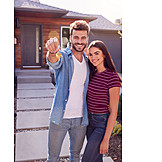 Happy, Real Estate, House Key, New Home