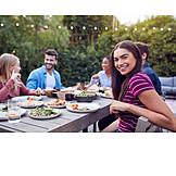 Garden, Together, Friends, Dinner