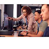 Bildung, It, Hochschule, Computerarbeitsplatz