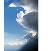 Sky, Cloudscape, Sunbeams