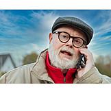 Senior, Mobile Kommunikation, Telefonieren
