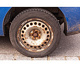 Car, Rusty, Wheel