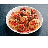 Spaghetti, Meatballs