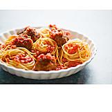 Spaghetti, Pasta Dish, Meatballs