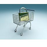 Shopping, Padlock, Secure