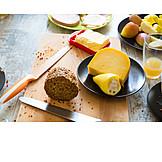 Fruit, Breakfast, Cheese, Bread
