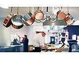 Gastronomie, Küche, Kochtöpfe