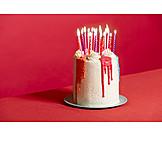 Candle, Candlelight, Birthday Cake