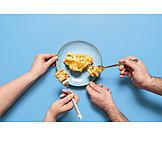 Portion, Sharing, Lasagna