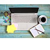 Office, Laptop, Desk