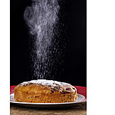Cake, Powdered Sugar, Sprinkle