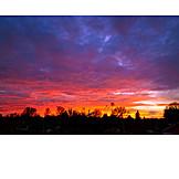 Sky, Sunset, Sunset