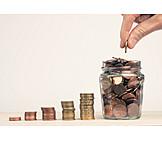 Savings, Change, Euro Coin