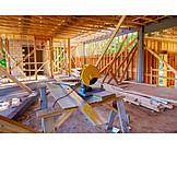 Building Construction, Construction Site, Circular Saw