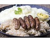 Sausage, Sauerkraut, Nuremberger