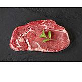 Steak, Grillfleisch, Rohes Fleisch