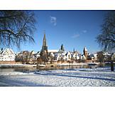 Winter, Danube River, Ulm