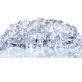 Ice, Ice Cubes, Crushed Ice