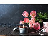 Tulpenstrauß, Muttertag, Kerzenlicht