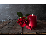 Rose, Candle, Romantic
