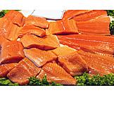 Sales, Prepared Fish, Salmon Steak