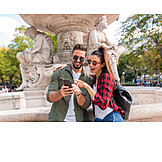 Couple, Vacation, Smart Phone