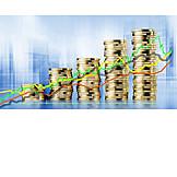 Finanzen, Börse, Aktienkurs, Ansteigend