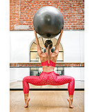 Gymnastics, Fitness Ball, Workout