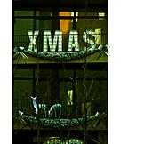 Balcony, Christmas Decoration, Xmas