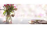 Blumenstrauß, Muttertag, Tischgedeck
