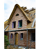 Building Construction, Clinker, Thatched Roof, Houses