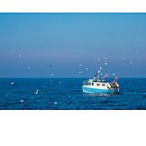 Baltic sea, Fishing boat