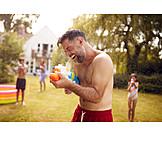 Summer, Water Pistol, Water Fight